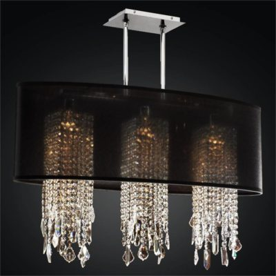 Oval Shade Chandelier with Crystal | Soho 626M