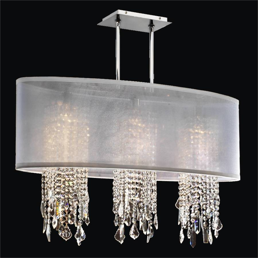 Crystal Chandelier with Shade | Soho 626M by GlOW Lighting