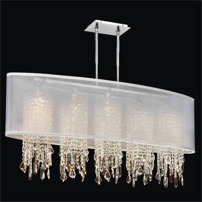 Oval Shaded Crystal Chandelier | Soho 626M