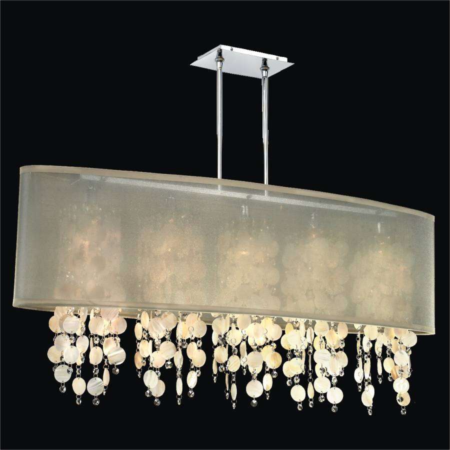 Oyster shell chandelier soho 626s glow lighting oyster shell chandelier soho 626sm45sp t 7c aloadofball Image collections