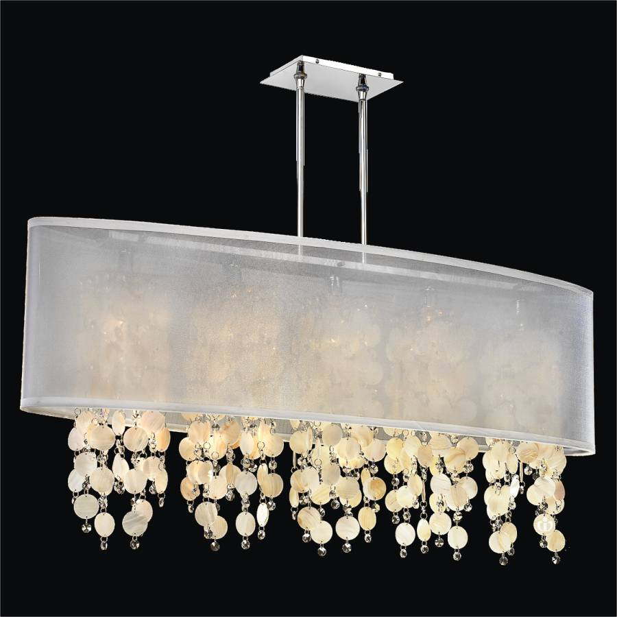 Oyster Shell Chandelier | Soho 626S by GlOW Lighting