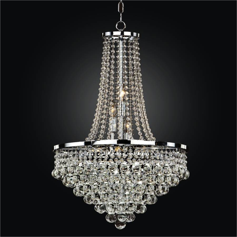 Beaded Empire Chandelier | Summerhill 643 by GLOW® Lighting.