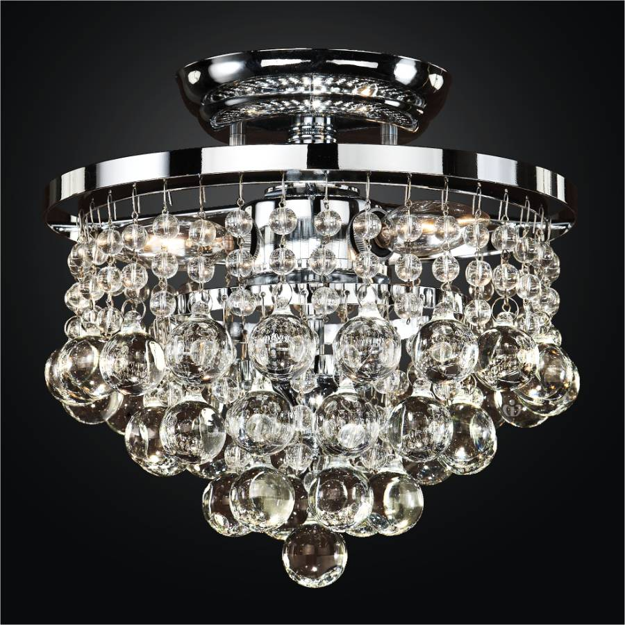 Beaded Flush Mounted Light | Summerhill 643 by Glow® Lighting.
