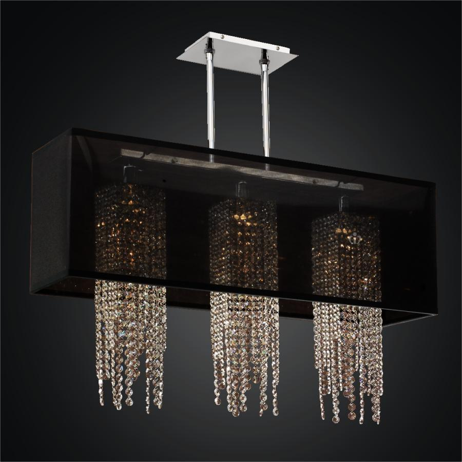 Rectangular shade chandelier crystal strand chandelier omni rectangular shade chandelier crystal strand chandelier omni 627a by glow lighting aloadofball Gallery