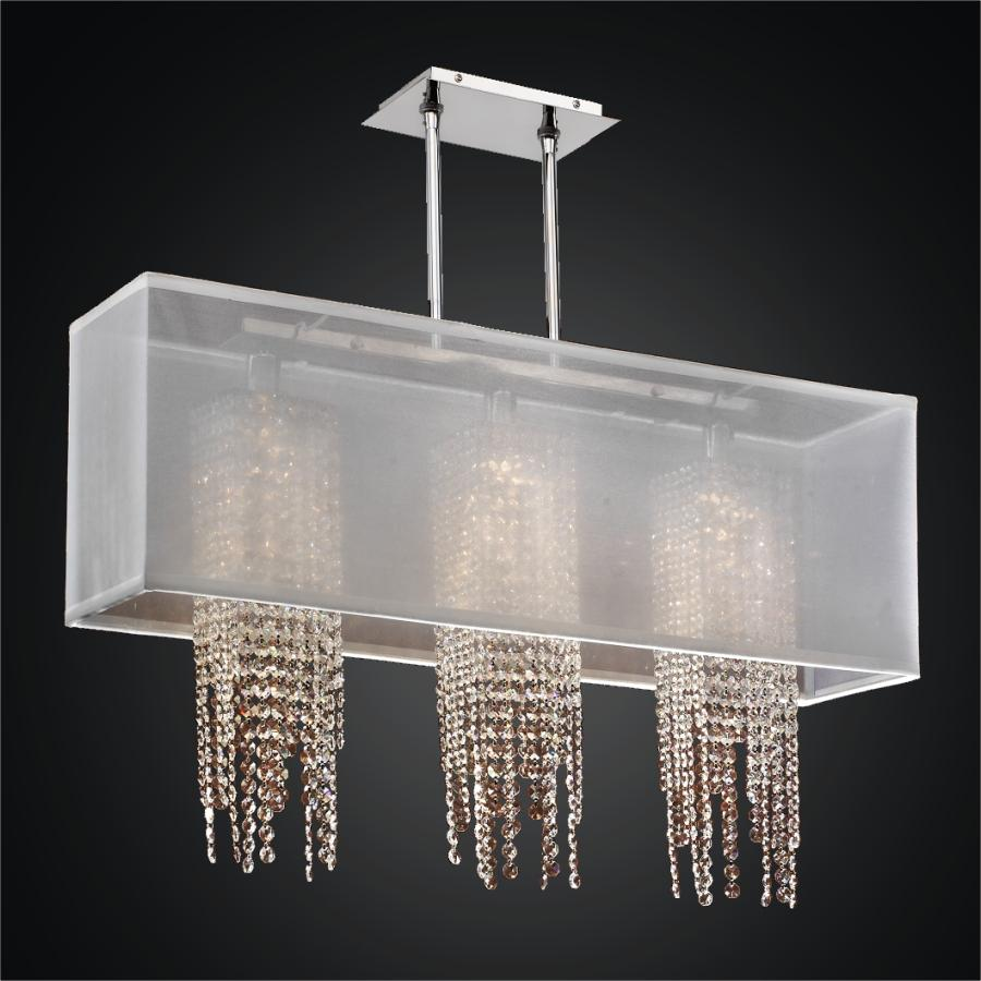 Crystal Strand Chandelier | Omni 627AM33SP-W-7
