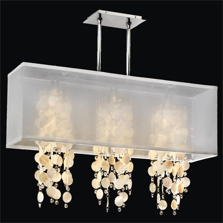 Rectangular Shell Chandelier | Omni 627S by GLOW® Lighting