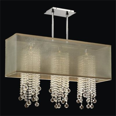 Rectangular Shade Chandelier – Glass Bead Chandelier | Omni 627B