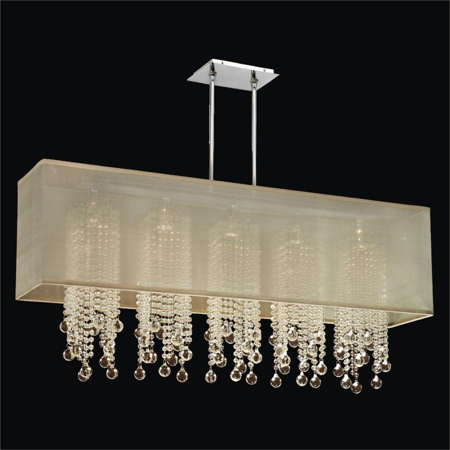 Omni Shaded Chandelier Flushmount By GLOWR Lighting