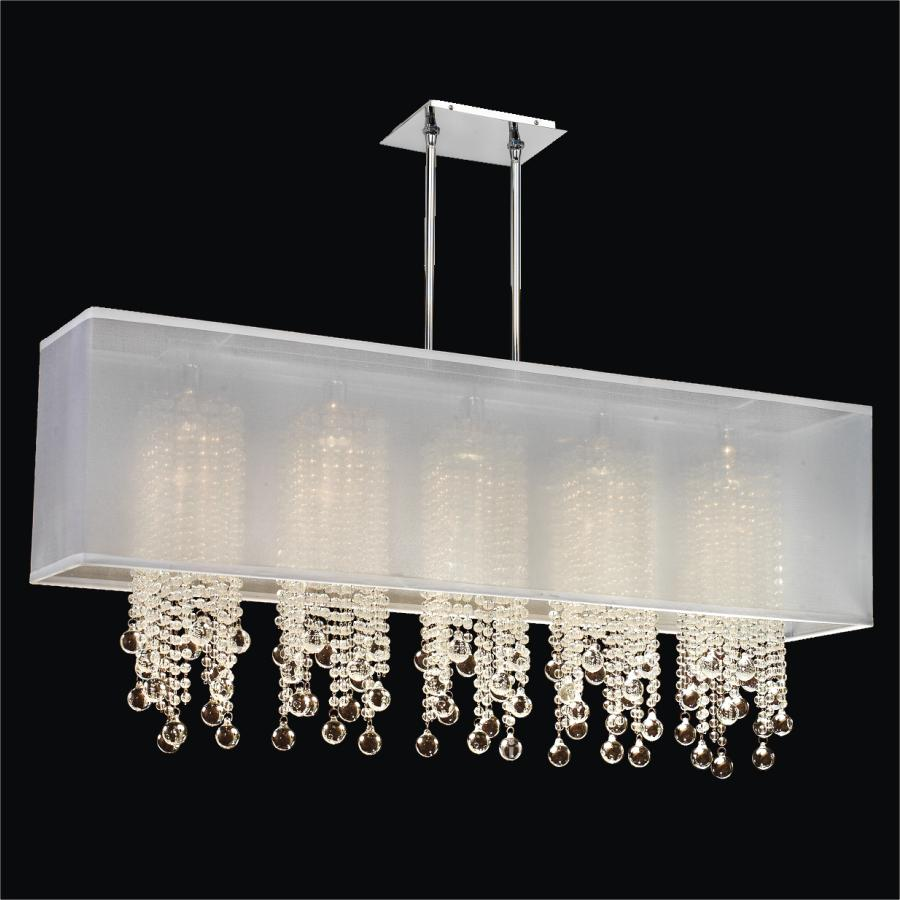 Glass Bead Chandelier | Omni 627BM44SP-W-7