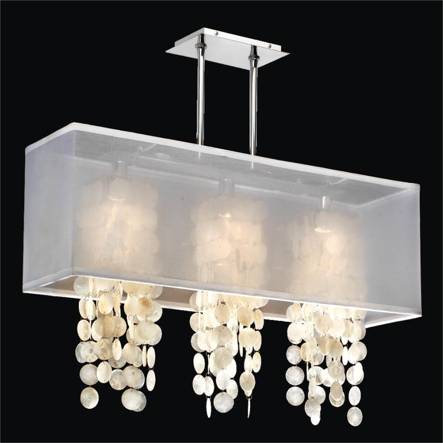 Rectangular Capiz Chandelier | Omni 627C by GLOW® Lighting