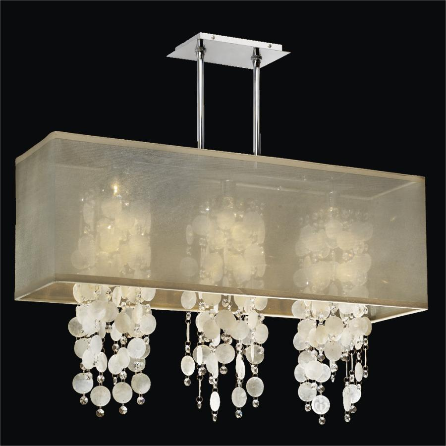 Rectangular Capiz Shell Chandelier | Omni 627KM33SP-T-7C