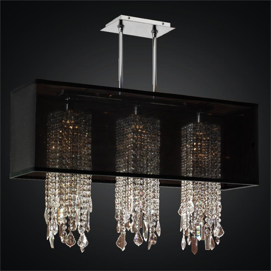 Rectangular Shade Chandelier with Crystal | Omni 627M ...