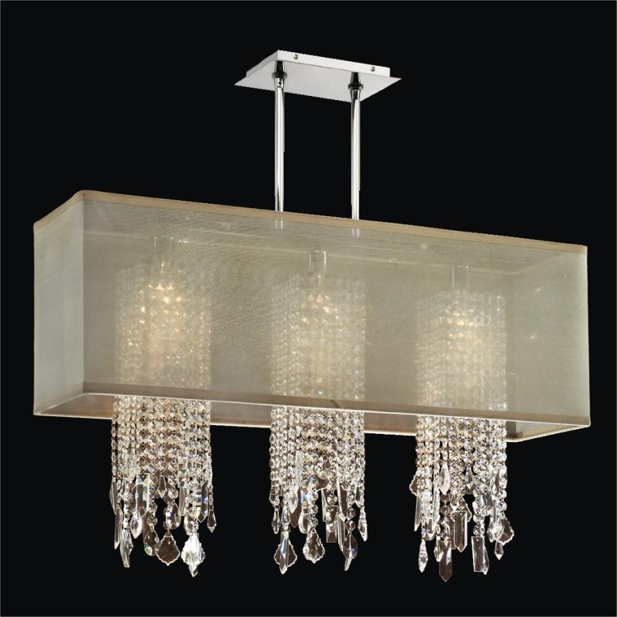 Rectangular Crystal Drop Chandelier | Omni 627M by GLOW® Lighting