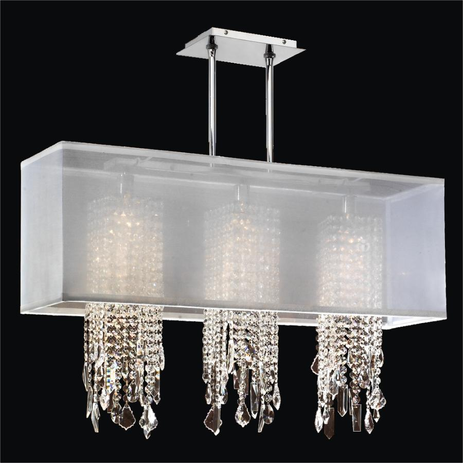 Rectangular Crystal Drop Chandelier Omni 627m Glow