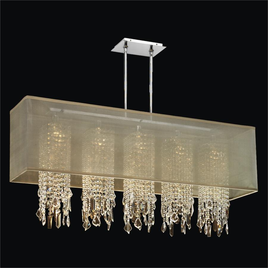 Rectangular Crystal Drop Chandelier | Omni 627MM44SP-T-7