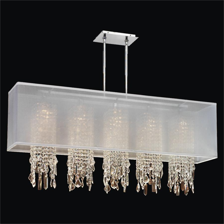 Rectangular Shade Chandelier With Crystal Omni 627m