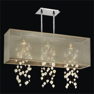 Rectangular Shade Chandelier | Omni 627N by GLOW® Lighting
