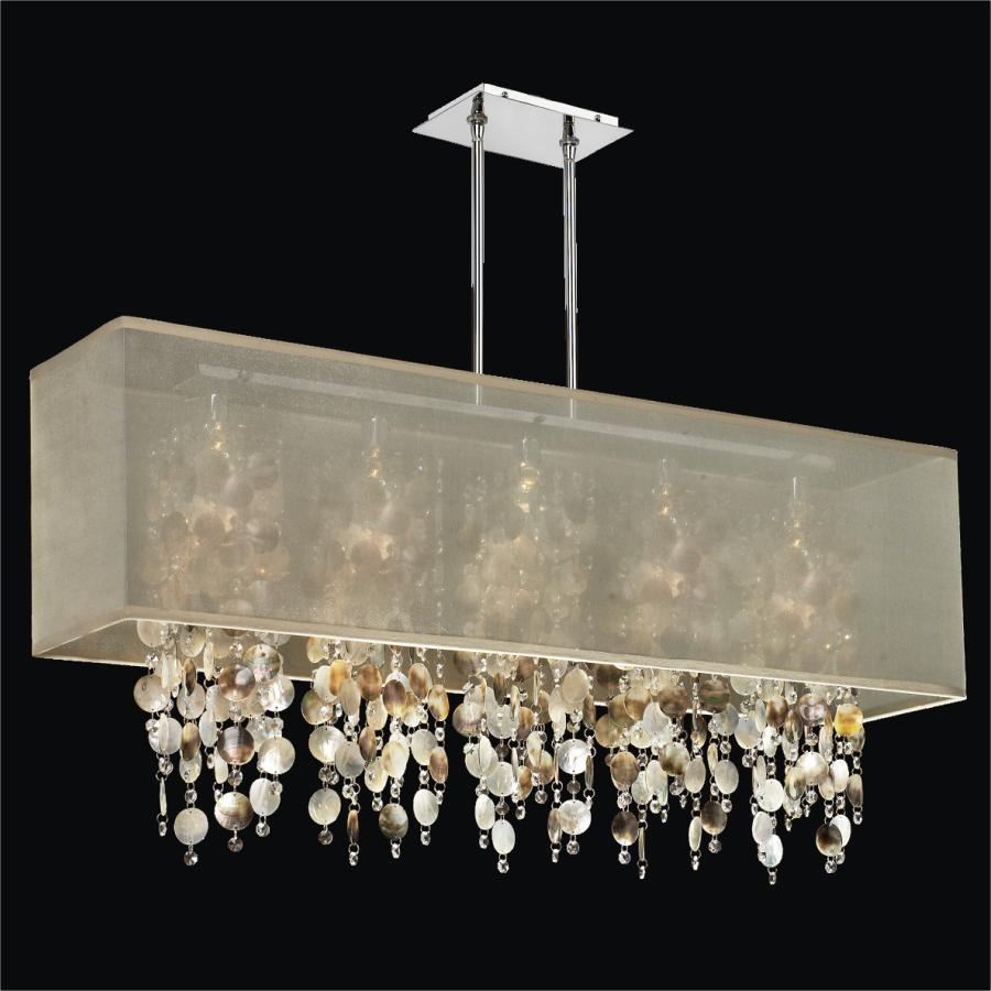 Mother of Pearl Chandelier Light | Omni 627P by GLOW® Lighting
