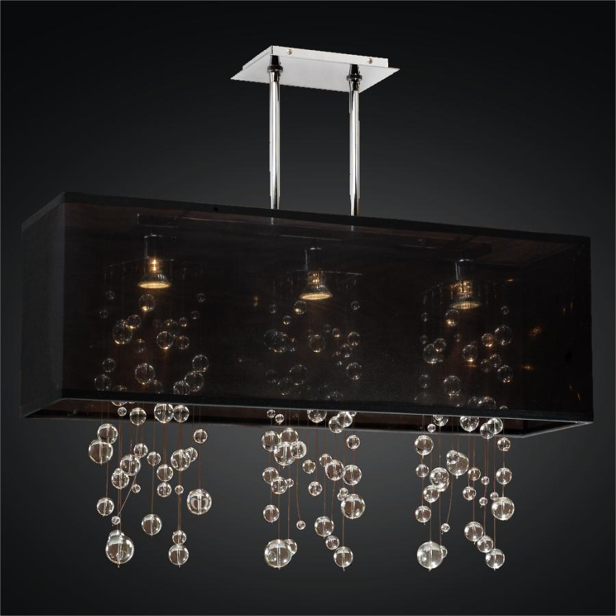 Rectangular crystal chandelier shop glow lighting rectangular shade chandelier glass ball chandelier omni 627r aloadofball Choice Image