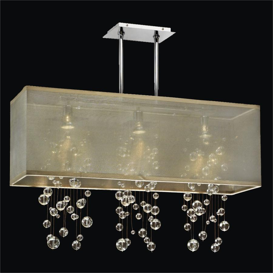 Rectangular Bubble Chandelier Omni 627r Glow 174 Lighting