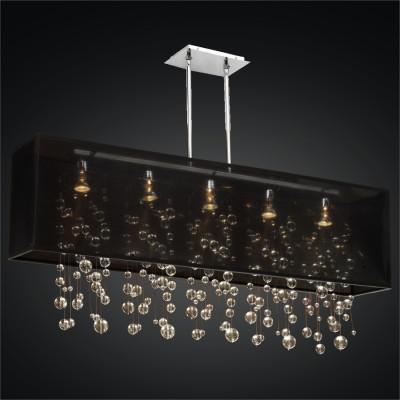 Rectangular Shaded Smooth Ball Chandelier | Omni 627