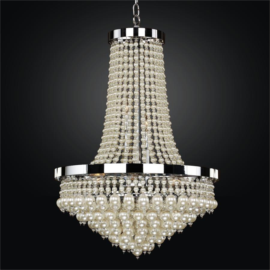 Beaded Chandelier Light | Vintages 641 by GLOW® Lighting