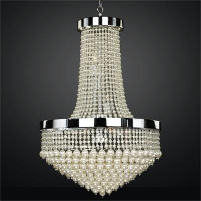 Beaded Chandelier with Pearl-Like Beads | Vintages 641