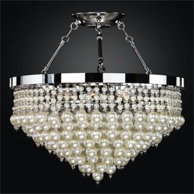 Faux Pearl Bead Semi Flush Mounts | Vintages 641
