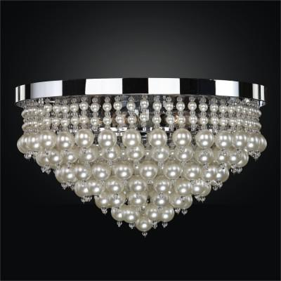 Beaded Flush Mount with Faux Pearl Beads | Vintages 641