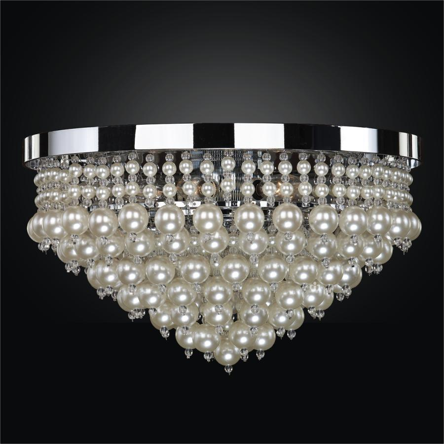 Vintages pearl bead flush mount by GLOW® Lighting