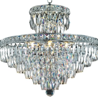 Rectangular Cut Crystal Chandelier | Diamond Allure 506