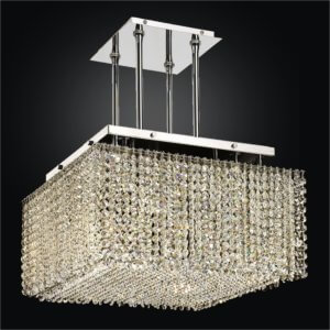 Square Crystal Chandelier | Cube2 599 by GLOW® Lighting