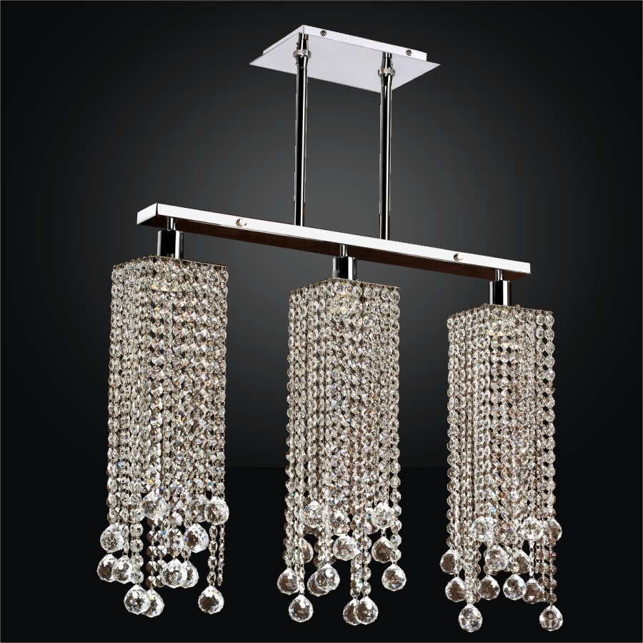 Contemporary Rectangular Crystal Chandelier Chelsea 645f