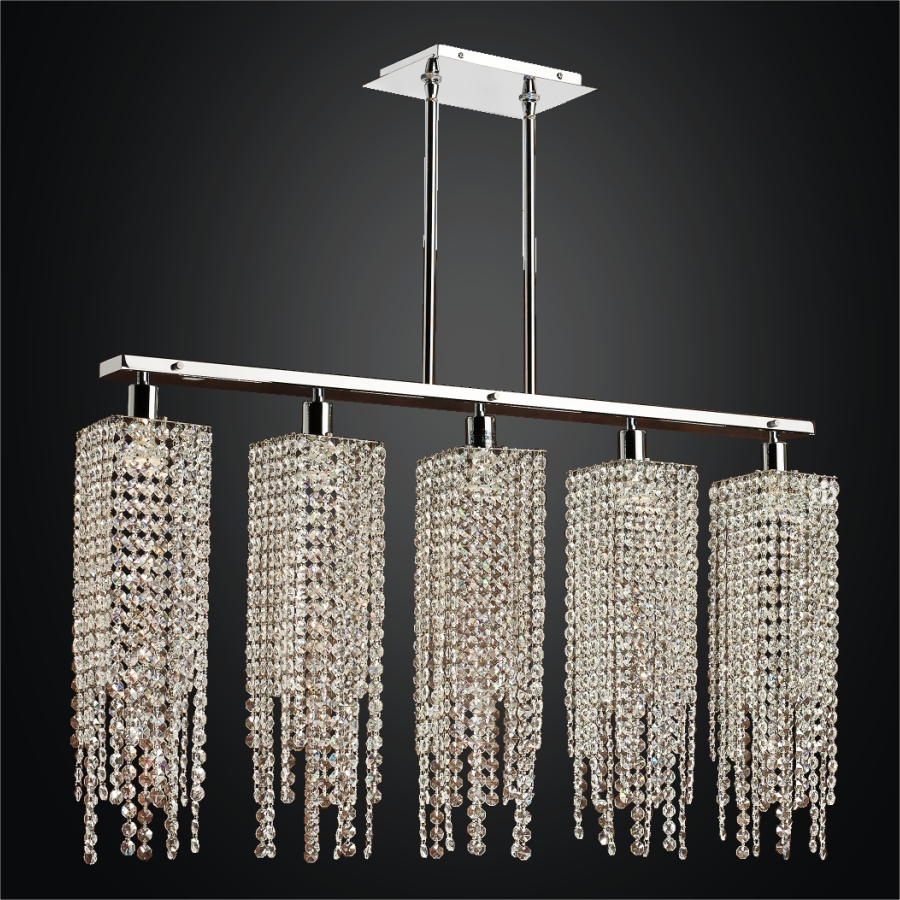 Linear Crystal Chandelier | Chelsea 645A by GLOW® Lighting