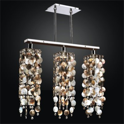 Linear Chandelier U2013 Mother Of Pearl Chandelier | Chelsea 645