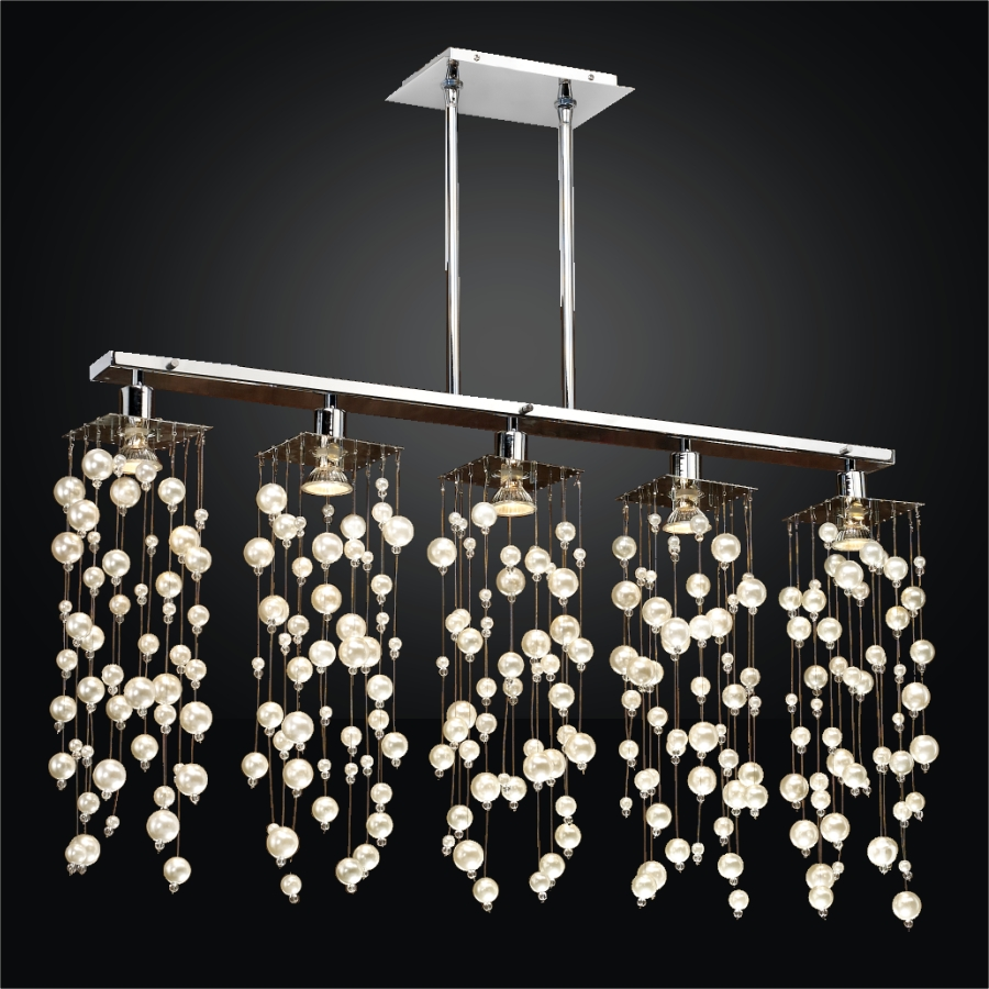 Beaded Chandelier Pendant Light | Chelsea 645N by GLOW® Lighting