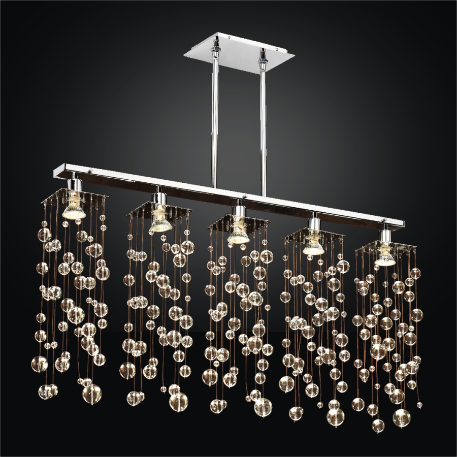 Linear Bubble Chandelier Chelsea 645r Glow 174 Lighting