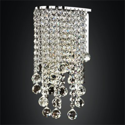 Faceted Crystal Ball Wall Sconce | Ensconced 611