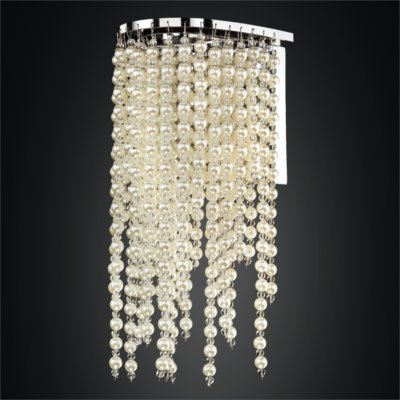 Beaded Wall Sconce – Pearl Like Beads | Ensconced 611