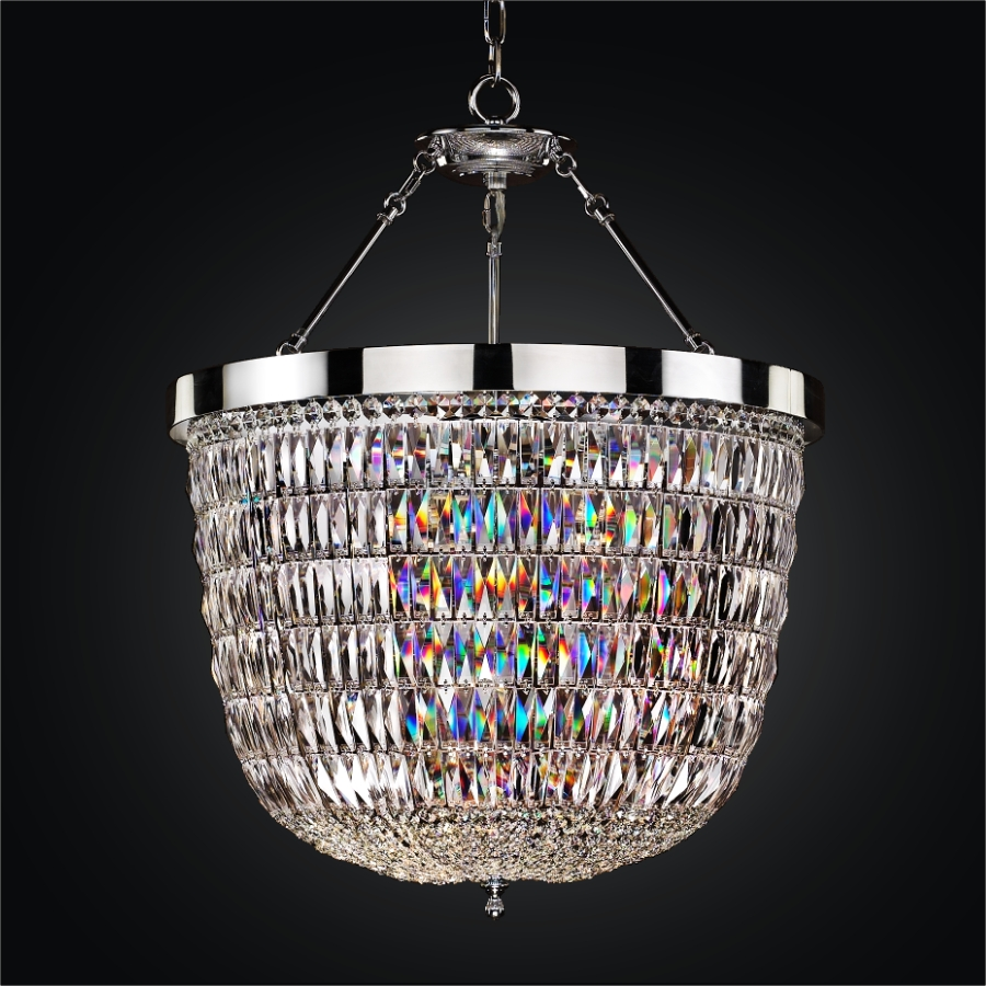 Crystal Lantern Chandelier | Lucia 607 by GLOW® Lighting