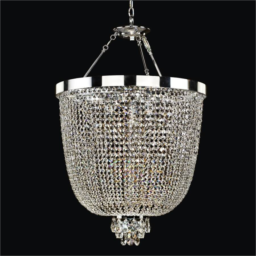 Crystal Basket Chandelier | Modern Time 603 by GLOW Lighting