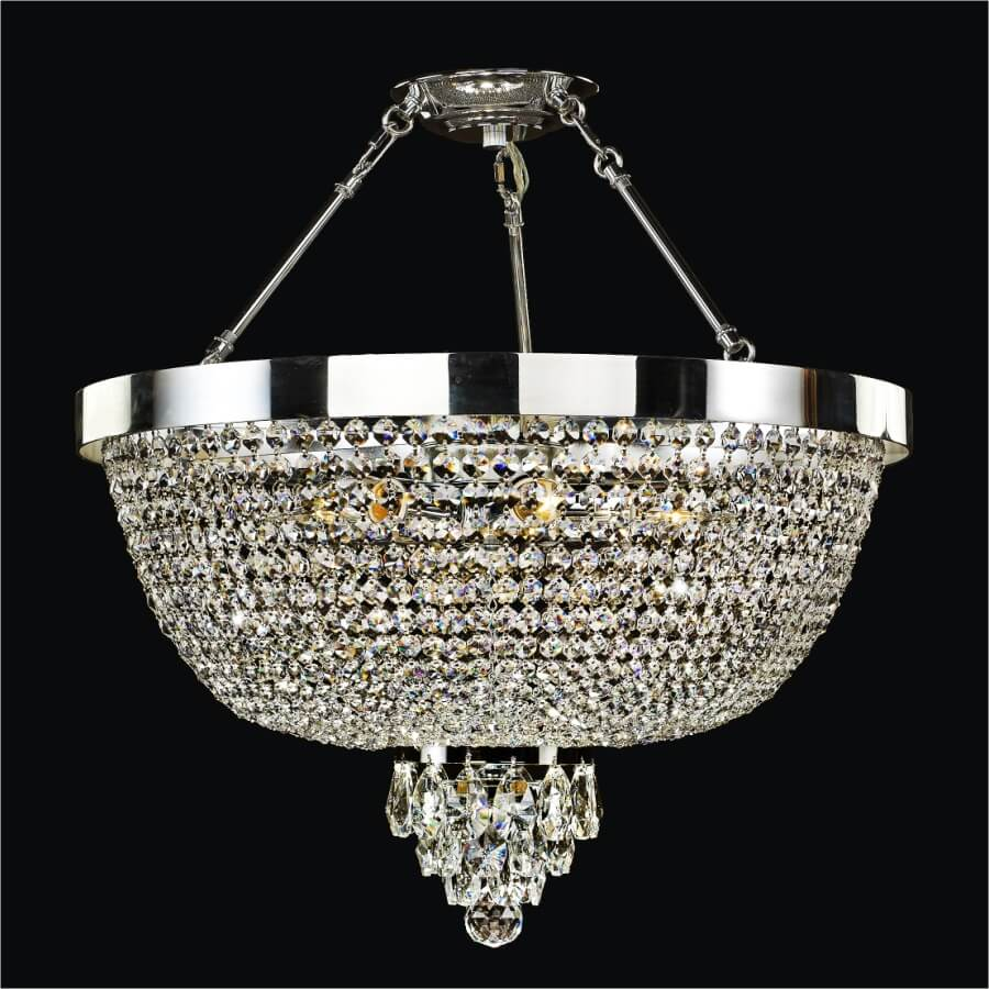 Semi Flush Crystal Chandelier | Modern Time 603 by GLOW Lighting