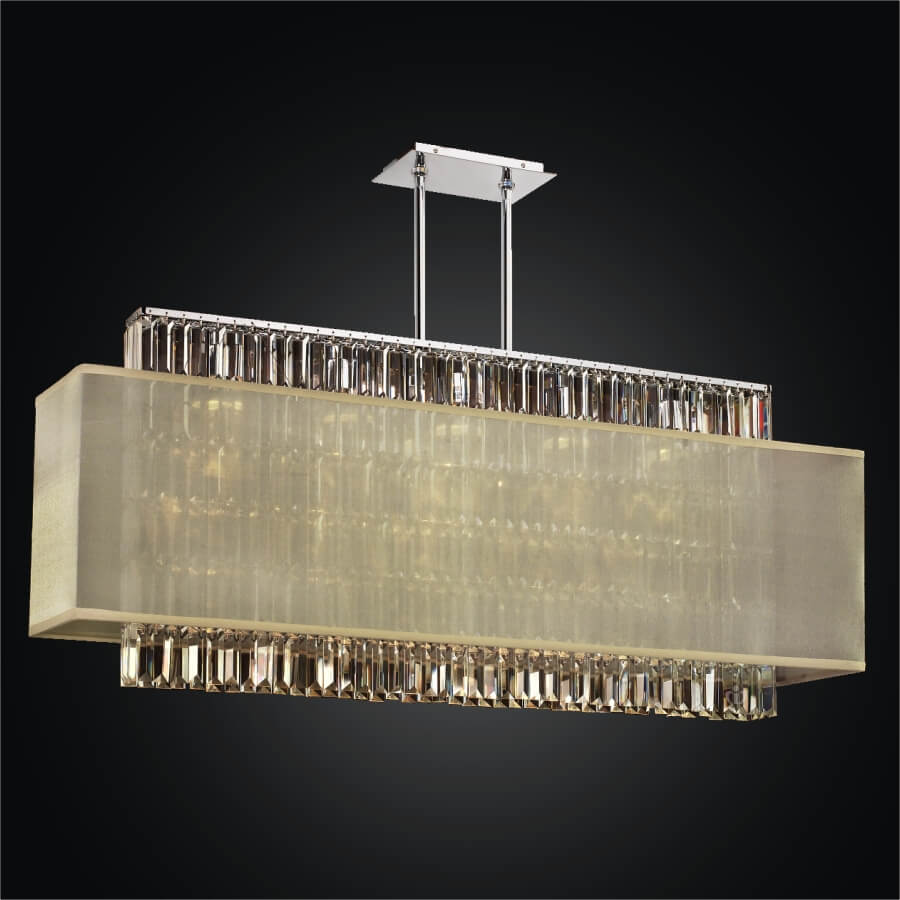 Rectangular Crystal Chandelier – Rectangular Shade  | Reflections 600LM44-19SP-T-7