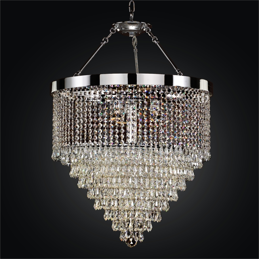 Hanging Crystal Chandelier | Spellbound 605 - GLOW Lighting