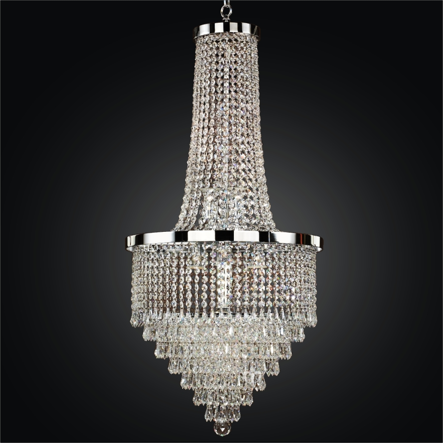 Foyer Chandelier With Shades : Entryway crystal chandelier spellbound glow lighting