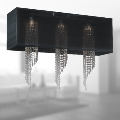 Rectangular Shades for Dual Mount Pendant Chandeliers | Sheer Shade SH007