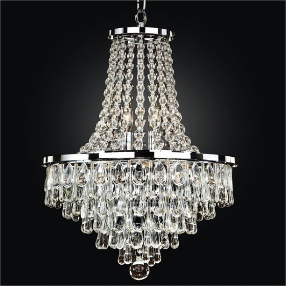 Smooth Half Pear and Teardrop Crystal Chandelier | Summer Rain 638