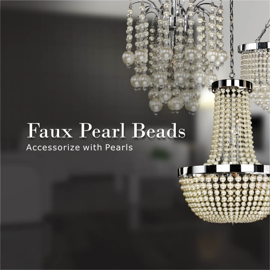 Faux pearl beads banner by GLOW Lighting