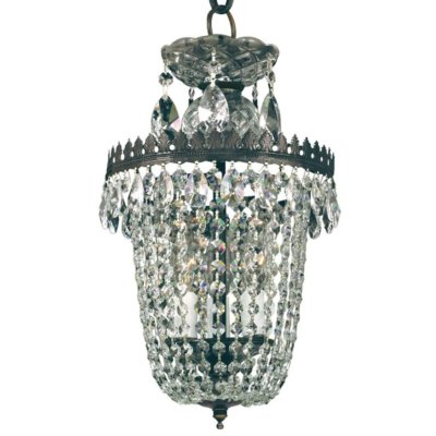 9″W Crystal Basket Mini Pendant | Balmoral 553