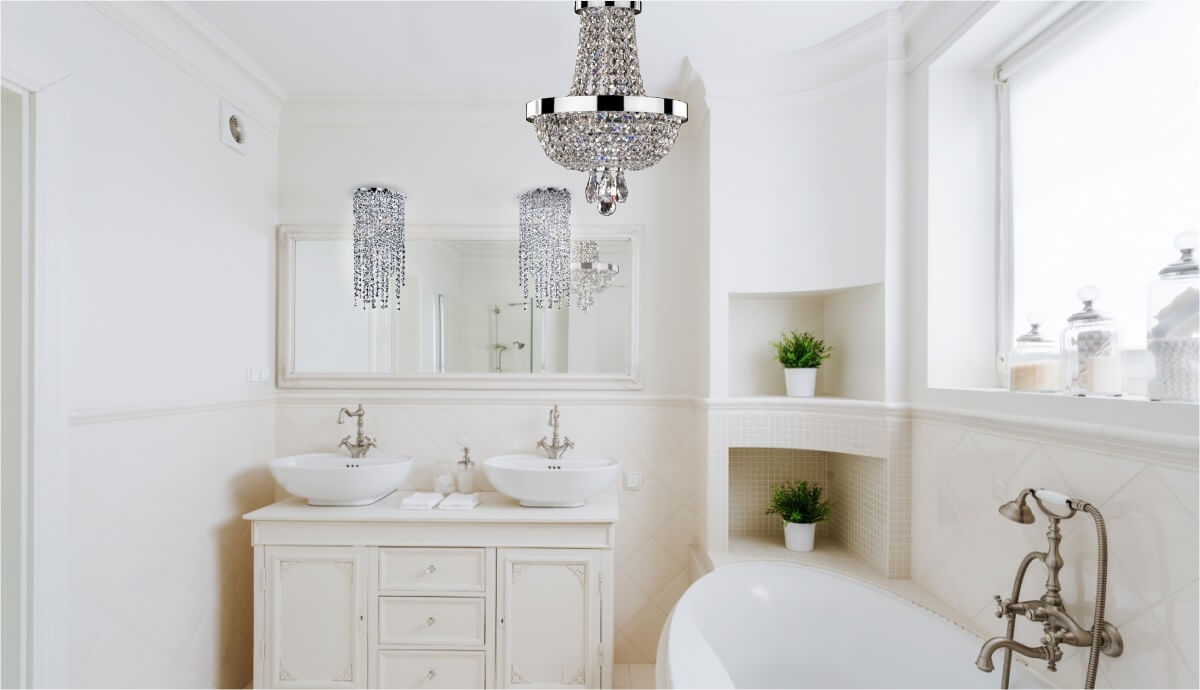gorgeous for crystal dennis bathroom small fascinating inspiration decor mini chandelier
